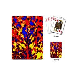 Fire Tree Pop Art Playing Cards (mini)  by Costasonlineshop