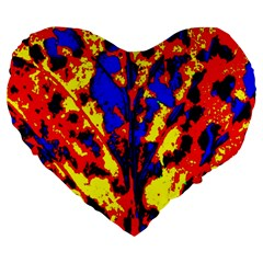 Fire Tree Pop Art Large 19  Premium Heart Shape Cushions by Costasonlineshop