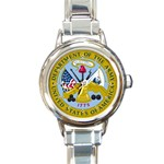 ARMY SEAL Round Italian Charm Watch