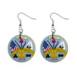 ARMY SEAL 1  Button Earrings