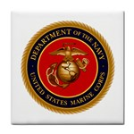 MARINE CORP SEAL Tile Coaster