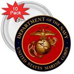 MARINE CORP SEAL 3  Button (10 pack)