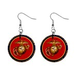 MARINE CORP SEAL 1  Button Earrings