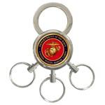 MARINE CORP SEAL 3-Ring Key Chain