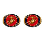 MARINE CORP SEAL Cufflinks (Oval)