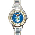 AIR FORCE SEAL Round Italian Charm Watch