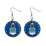 AIR FORCE SEAL 1  Button Earrings