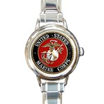 MARINE SEAL Round Italian Charm Watch