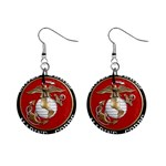 MARINE SEAL 1  Button Earrings