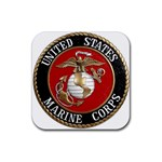 MARINE SEAL Rubber Square Coaster (4 pack)