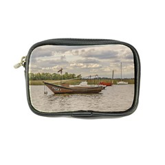 Fishing And Sailboats At Santa Lucia River In Montevideo Coin Purse by dflcprints