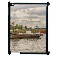 Fishing And Sailboats At Santa Lucia River In Montevideo Apple Ipad 2 Case (black) by dflcprints