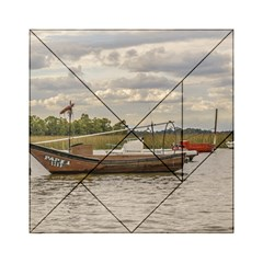 Fishing And Sailboats At Santa Lucia River In Montevideo Acrylic Tangram Puzzle (6  X 6 ) by dflcprints