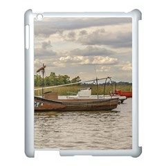Fishing And Sailboats At Santa Lucia River In Montevideo Apple Ipad 3/4 Case (white) by dflcprints