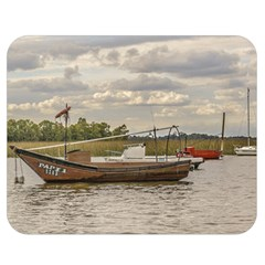 Fishing And Sailboats At Santa Lucia River In Montevideo Double Sided Flano Blanket (medium)  by dflcprints
