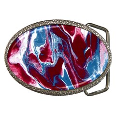 Blue Red White Marble Pattern Belt Buckles by Costasonlineshop