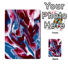 Blue Red White Marble Pattern Multi Purpose Cards (rectangle)