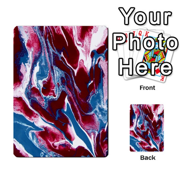 Blue Red White Marble Pattern Multi-purpose Cards (Rectangle)