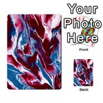 Blue Red White Marble Pattern Multi-purpose Cards (Rectangle)  Front 17