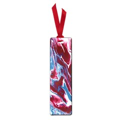 Blue Red White Marble Pattern Small Book Marks by Costasonlineshop