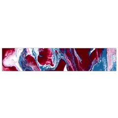 Blue Red White Marble Pattern Flano Scarf (small)