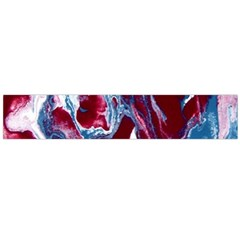 Blue Red White Marble Pattern Flano Scarf (large)  by Costasonlineshop