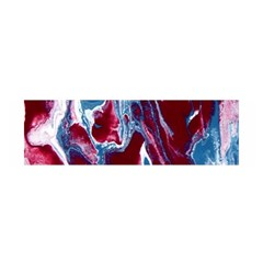 Blue Red White Marble Pattern Satin Scarf (oblong)