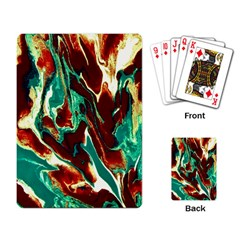 Brown Beige Marble Pattern Playing Card