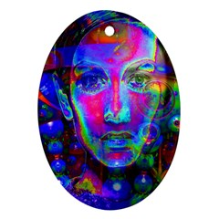 Night Dancer Ornament (oval)  by icarusismartdesigns
