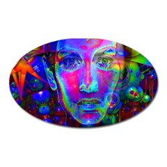 Night Dancer Oval Magnet by icarusismartdesigns