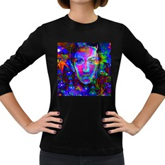 Night Dancer Women s Long Sleeve Dark T Shirts by icarusismartdesigns