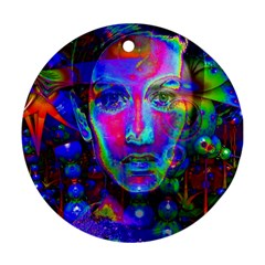 Night Dancer Round Ornament (two Sides)  by icarusismartdesigns