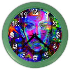 Night Dancer Color Wall Clocks by icarusismartdesigns