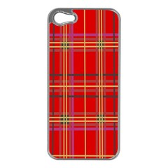 Plaid Apple Iphone 5 Case (silver) by JDDesigns