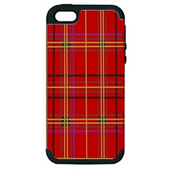Plaid Apple Iphone 5 Hardshell Case (pc+silicone) by JDDesigns