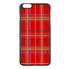 Plaid Apple Iphone 6 Plus/6s Plus Black Enamel Case by JDDesigns