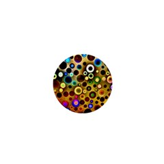 Colourful Circles Pattern 1  Mini Buttons by Costasonlineshop