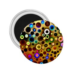 Colourful Circles Pattern 2.25  Magnets by Costasonlineshop