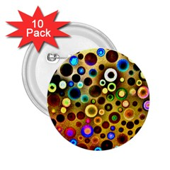 Colourful Circles Pattern 2.25  Buttons (10 pack)  by Costasonlineshop