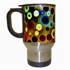 Colourful Circles Pattern Travel Mugs (white) by Costasonlineshop