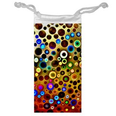 Colourful Circles Pattern Jewelry Bags by Costasonlineshop