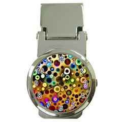 Colourful Circles Pattern Money Clip Watches by Costasonlineshop