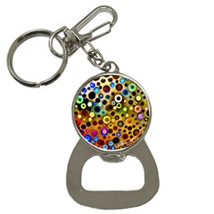 Colourful Circles Pattern Bottle Opener Key Chains