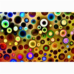Colourful Circles Pattern Collage 12  X 18  by Costasonlineshop