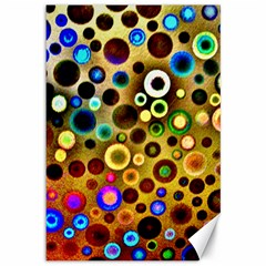 Colourful Circles Pattern Canvas 12  X 18