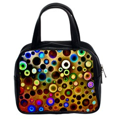Colourful Circles Pattern Classic Handbags (2 Sides)