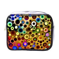 Colourful Circles Pattern Mini Toiletries Bags by Costasonlineshop