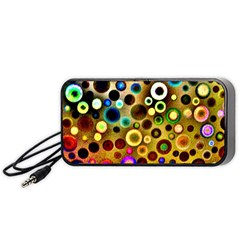 Colourful Circles Pattern Portable Speaker (black)  by Costasonlineshop