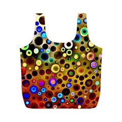 Colourful Circles Pattern Full Print Recycle Bags (m)  by Costasonlineshop