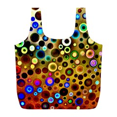 Colourful Circles Pattern Full Print Recycle Bags (l)
